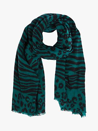 Oasis Leopard and Zebra Print Scarf