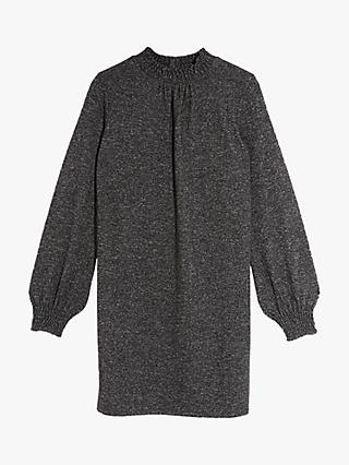Oasis Cosy Jumper Dress, Dark Grey