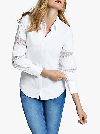 Harpenne Lace Sleeve Shirt, White