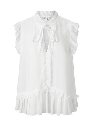 Somerset by Alice Temperley Frill Sleeveless Blouse, Ivory