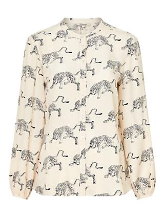 Somerset by Alice Temperley Cheetah Blouse, Ivory