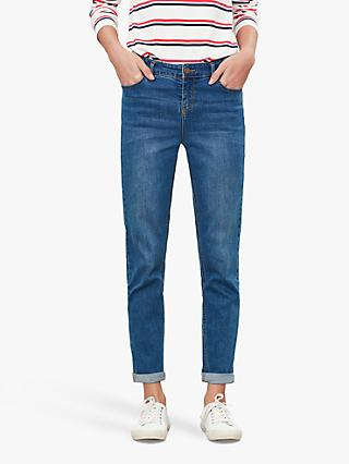 Joules Simone Girlfriend Jeans, Mid Blue