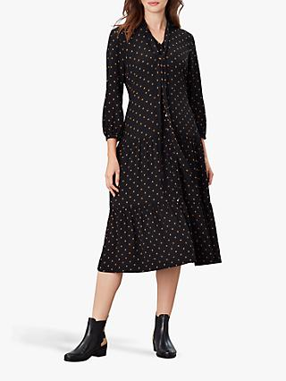 Joules Josie Star Print Shirt Dress, Tan Star