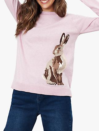 Joules Miranda Hare Jumper, Pink Hare