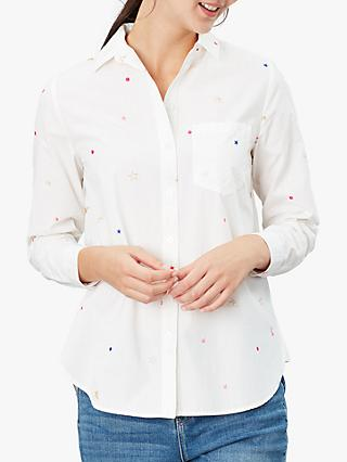 Joules Lorena Luxe Shirt, White Bees