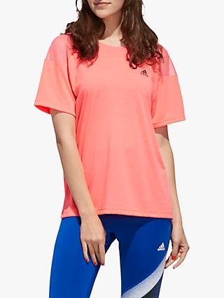 adidas Unleash Confidence Training Top, Signal Pink/Black