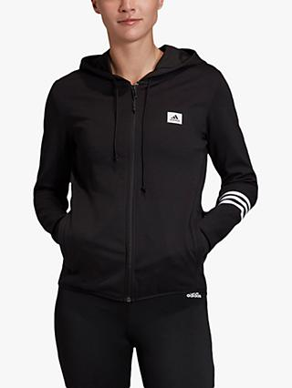 adidas Designed To Move Motion Full Zip Training Hoodie, Black/White