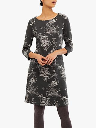 White Stuff Willow Jacquard Jersey Dress, Rock Grey