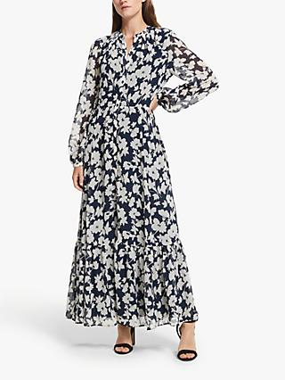 Somerset by Alice Temperley Floral Maxi Dress, Navy