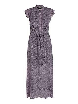 Somerset by Alice Temperley Cheetah Pintuck Dress, Purple