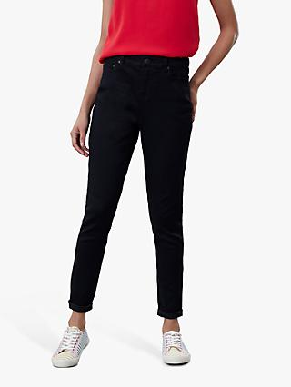 Joules Monroe High Waist Skinny Jeans, True Black