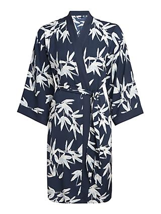 John Lewis & Partners Lucy Satin Robe, Blue