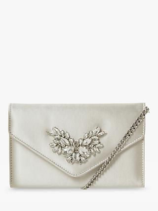 Dune Bridal Collection Besotted Envelope Clutch Bag, Ivory
