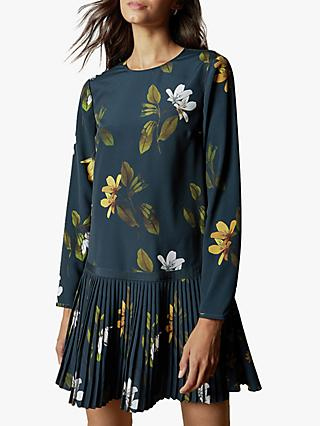 Ted Baker Danees Savanna Long Sleeve Tunic Dress, Dark Blue