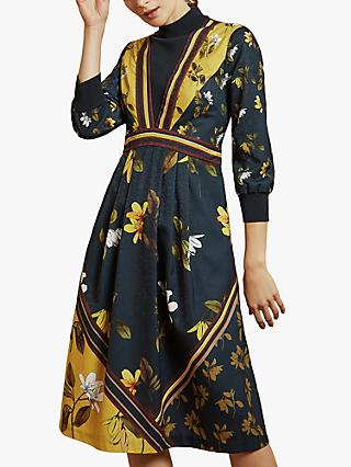 Ted Baker Juudyy High Neck Floral Dress, Multi