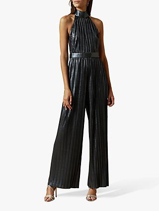 Ted Baker Fallon Halter Neck Jumpsuit, Dark Blue