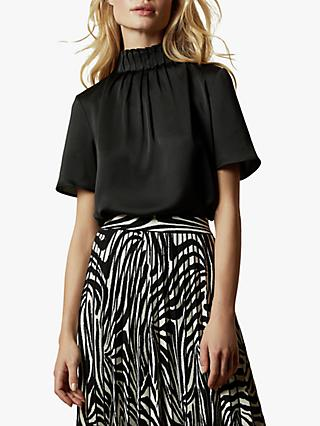 Ted Baker Luniaa Pleat Detail Blouse, Black