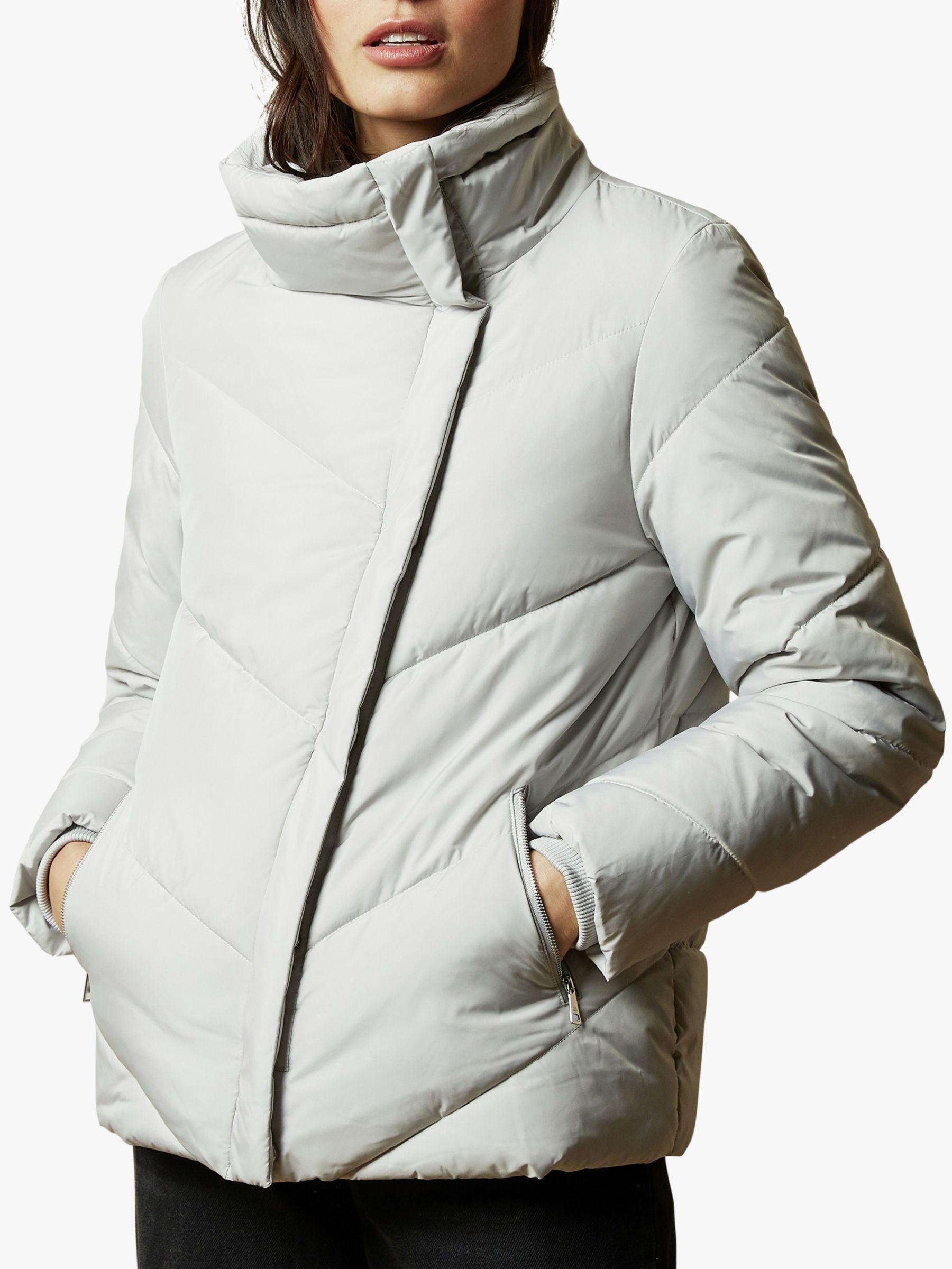 Ted Baker Ted Baker Lotiy Wrap Padded Jacket, Grey