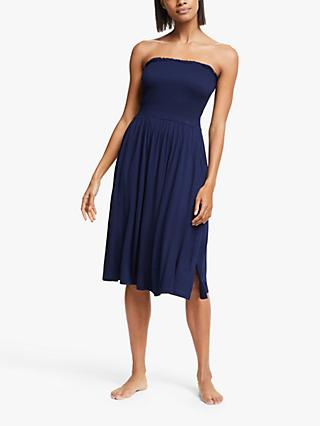 John Lewis & Partners Jersey Bandeau Dress, Blue