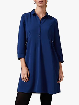 Phase Eight Esi Eyelet Dress, Petrol