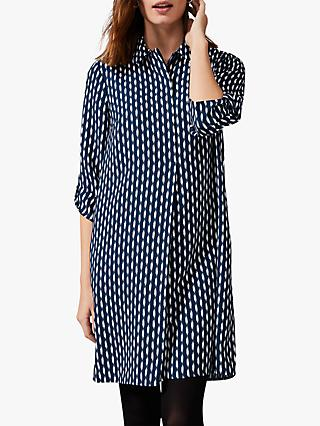 Phase Eight Ikat Shirt Dress, Petrol