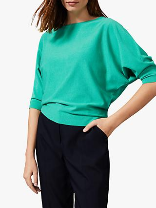 Phase Eight Cristine Batwing Knit Top, Green