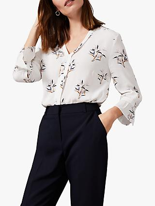 Phase Eight Winen Bamboo Blouse, Ivory