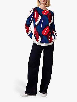 Phase Eight Maebury Abstract Leaf Blouse, Multi
