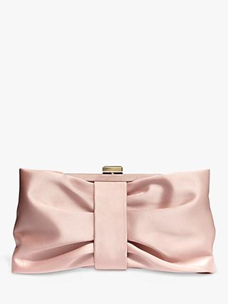 Phase Eight Meaghan Satin Bow Clutch Bag