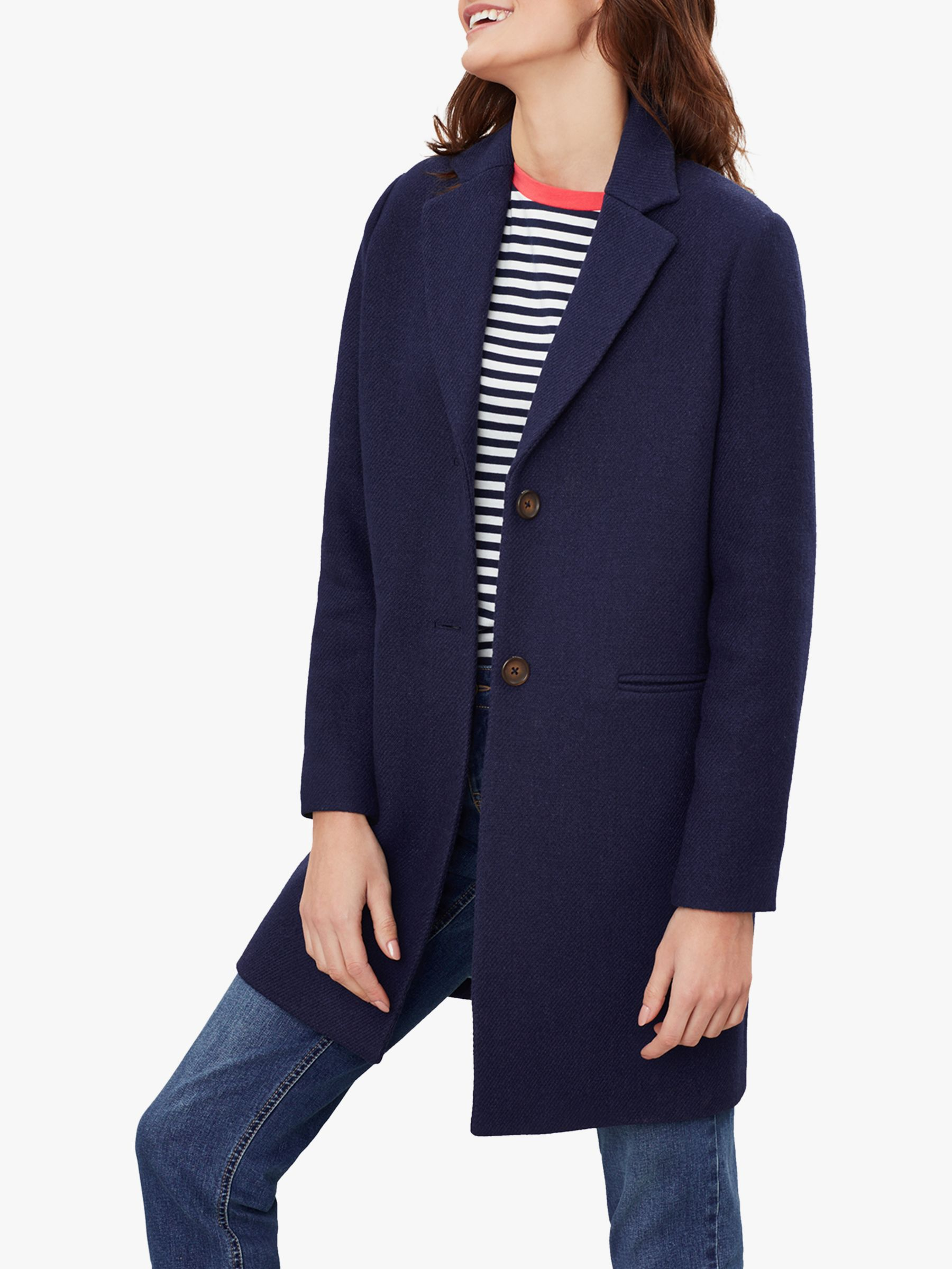 Joules Joules Walton Crombie Coat, French Navy
