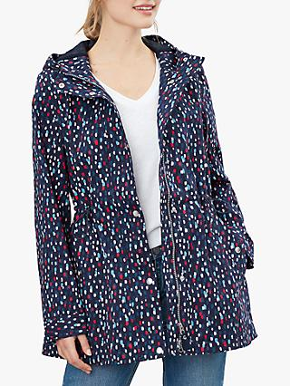 Joules Shoreside Spot Print Waterproof Coat, Multi