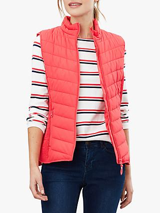 Joules Fallow Padded Funnel Neck Gilet, Poppy