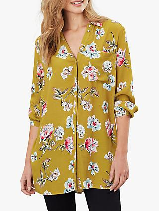 Joules Hailey Floral Blouse, Gold/Multi