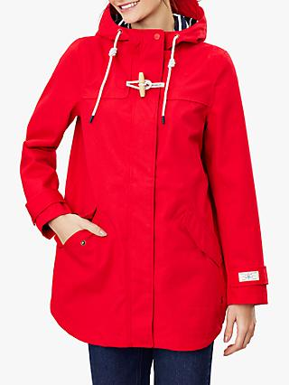 Joules Coast Mid Waterproof Coat, Red