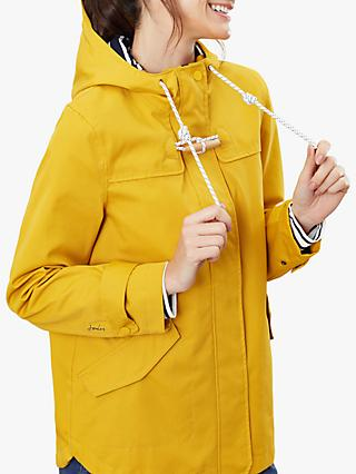 Joules Coast Waterproof Coat, Antique Gold