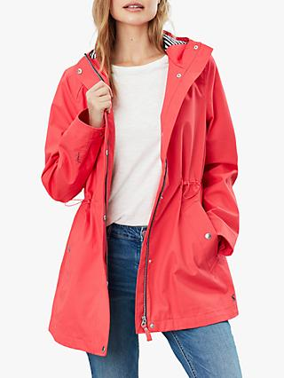 Joules Shoreside Waterproof Coat, Poppy