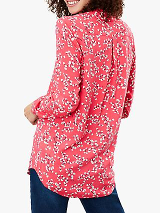 Joules Elvina Button Front Top, Red Ditsy