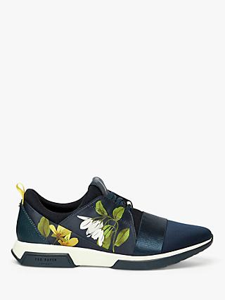 Ted Baker Cepap Printed Trainers, Dark Blue