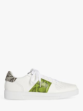 Ted Baker Coppirr Leather Lace Up Trainers, White