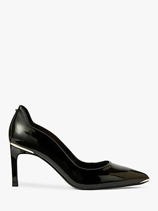 Ted Baker Eriina Stiletto Heel Leather Court Shoes, Black