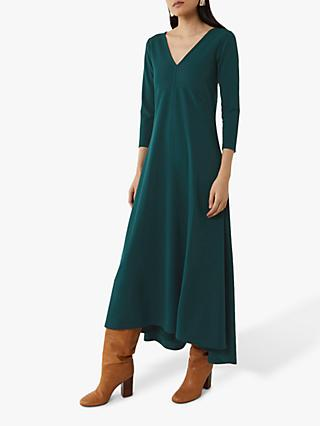 Warehouse Long Sleeve Crepe Maxi Dress