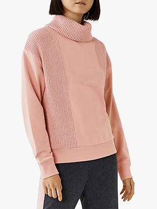 Warehouse Rib Cutabout Sweatshirt, Light Pink
