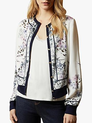 Ted Baker Innga Floral Jacket, White/Multi