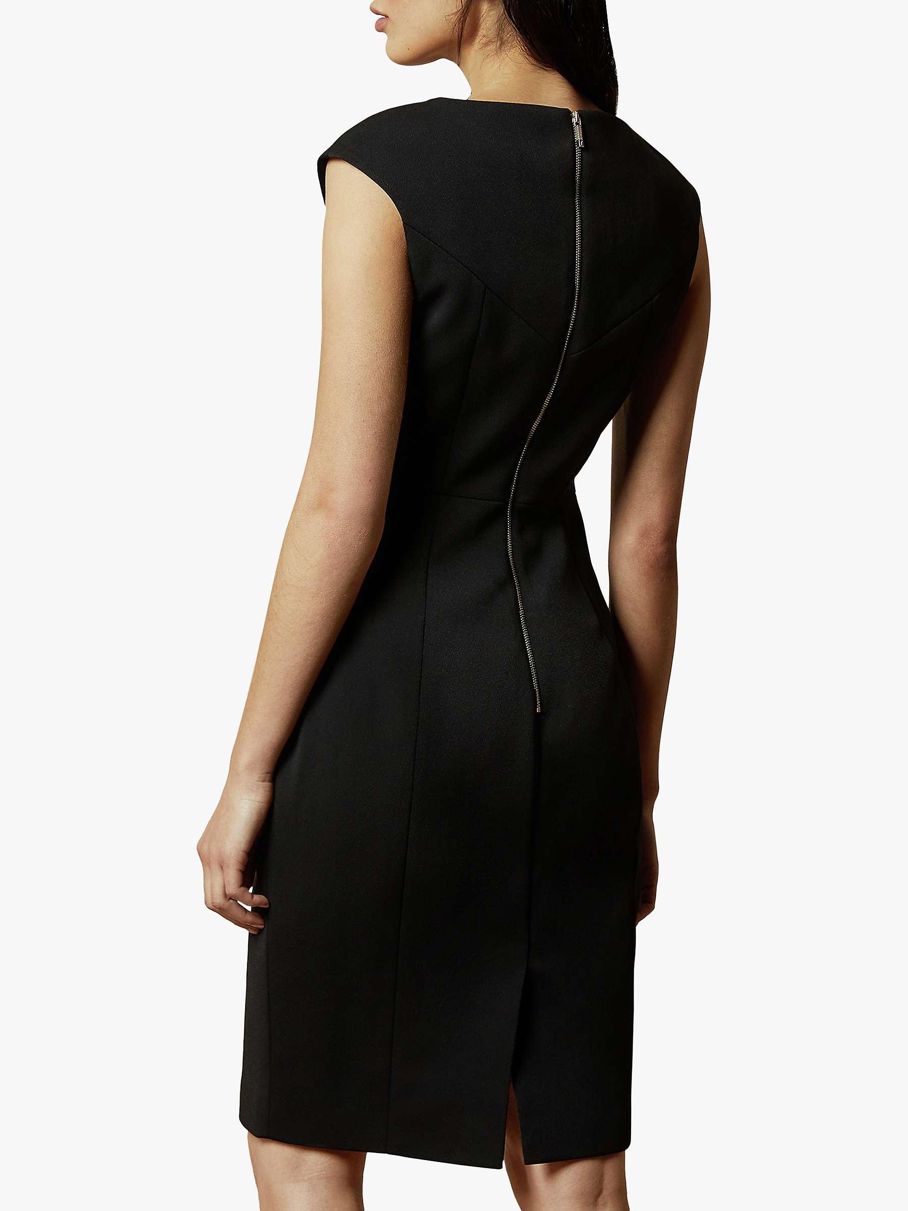 Ted Baker Pelagai Boat Neck Midi Dress, Black