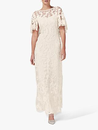 Phase Eight Aviana Tapework Wedding Dress, Parchment