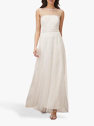 Phase Eight Genova Tulle Dress, Old Rose