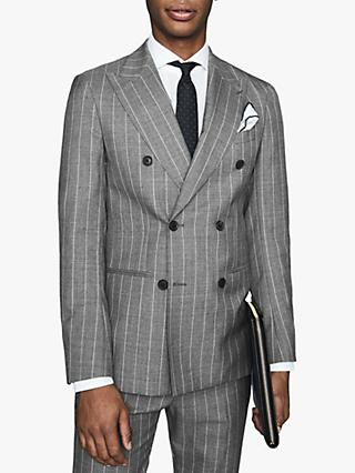 Reiss Tijuana Wool Pinstripe Slim Fit Suit Jacket, Grey