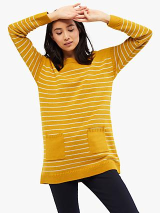 White Stuff Latitude Stripe Tunic Top, Yellow