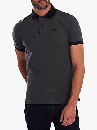 Barbour Sports Mix Polo Shirt, Black