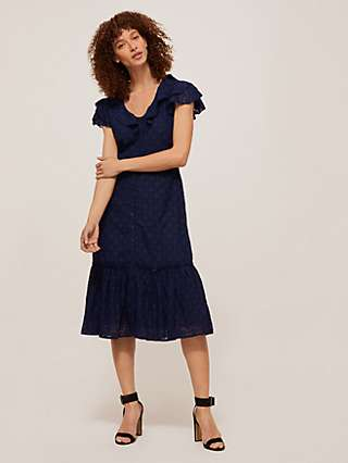 Somerset by Alice Temperley Fille Coupe Tiered Dress, Navy